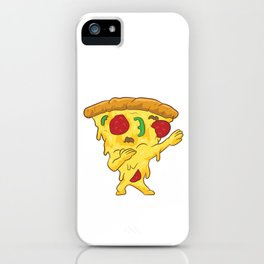 Dabbing Pizza Funny Pizza iPhone Case