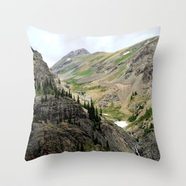 Melting Snows above the Animas River, Near the Eureka Mine Throw Pillow
