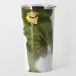 Green Arrow Minimalist Splash Poster  Travel Mug