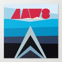 jaws Canvas Prints featuring Jaws by Sam Kee for MAX YAM