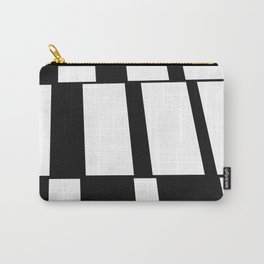 Rising Rectangles #blackandwhite #pattern #decor #society6 Carry-All Pouch
