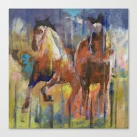 horses Canvas Prints featuring Horses by Michael Creese