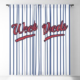 Weeds Typographic Design Blackout Curtain