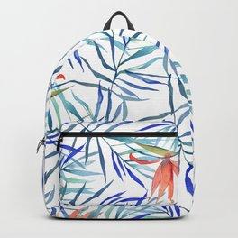 watercolor botanical pattern Backpack