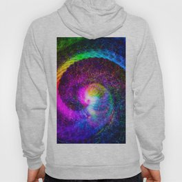 Spiral tie dye light painting Hoody