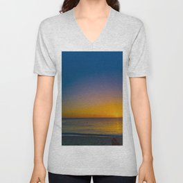 Setting Sun And Sea Unisex V-Neck