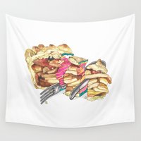 pie Wall Tapestries featuring PIE by Gel Jamlang