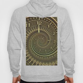 Bronze Metallic Ornate Spiral Time Machine Hoody