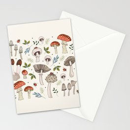 Wild Mushrooms & Toadstools Stationery Cards
