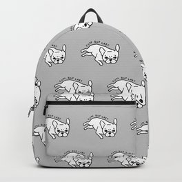 Cute but lazy French Bulldog design for Frenchie lovers Backpack