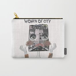 Women of city White Carry-All Pouch