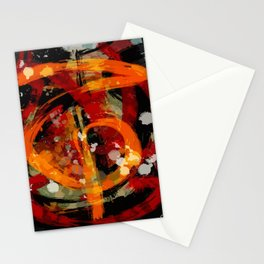 Into the dragon abstract  art Stationery Cards
