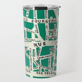 PARIS MAP GREEN Travel Mug