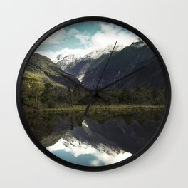 (Franz Josef Glacier) Where the snow melts Wall Clock