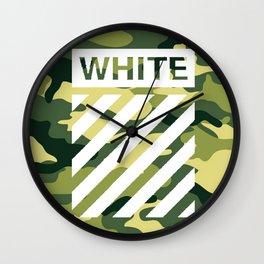 off white army camo Wall Clock