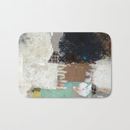 Another Vice Mixed Media Abstract Collage Art Bath Mat