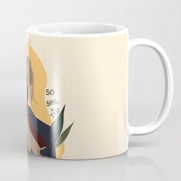 Lady with Hair Tie Coffee Mug