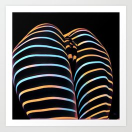 2634s-AK Striped Thighs Bottoms Up Intimate Abstract by Chris Maher Art Print