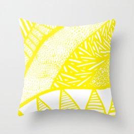 Free Hand Zesty Lemon Doodle Design Throw Pillow