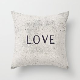 Love Stone Photography - Love Carved in Stone - Zen Meditation Art Throw Pillow
