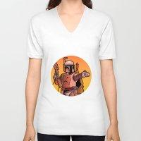 boba V-neck T-shirts featuring Boba Fire by Ann Van Haeken