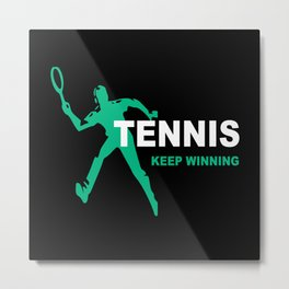 Tennis Tennis Racket Tennis Match Tennis Gift Metal Print
