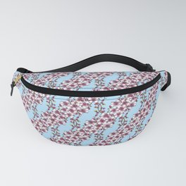 Cherry Blossoms on a Spring Blue Fanny Pack