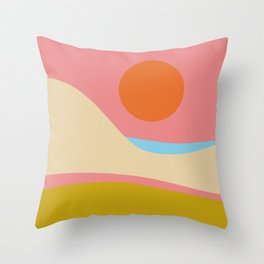 Abstract Landscape - Sunset Throw Pillow