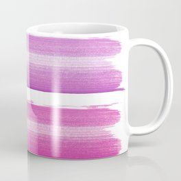 Simply hand painted pink and magenta stripes on white background  2 - Mix and Match Coffee Mug