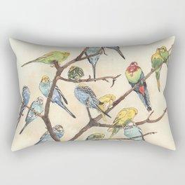 Parakeets Rectangular Pillow