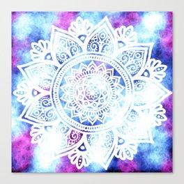 Purple and Blue Tied-Dye Mandala - LaurensColour Canvas Print