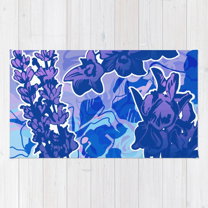 Lavender, Orchid, and Iris Rug