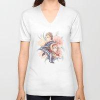 hetalia V-neck T-shirts featuring NedBel - Flowers by jali-jali