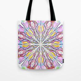 Stain Glass Kaleidoscope Tote Bag