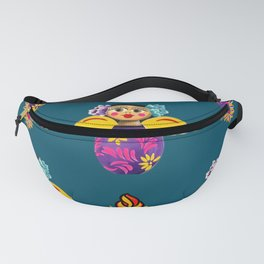 Angels and Corazones (flaming hearts) Fanny Pack