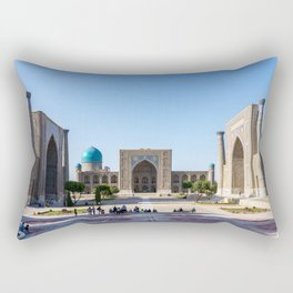 Registan square in Samarkand Rectangular Pillow