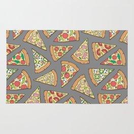Pizza on Dark Grey Rug