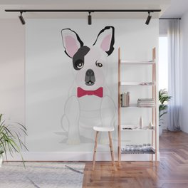 French in a Bowtie Wall Mural