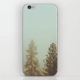 Pastel Green Adventure Forest Nature Photography iPhone Skin