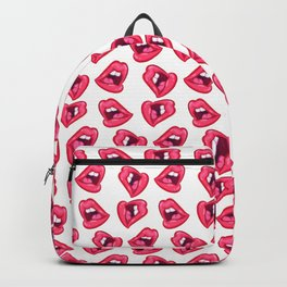 Hot Lips Pattern Backpack
