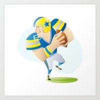 football Art Prints featuring Football by Dues Creatius