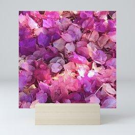 Luxurious Tapestry of Pink, Magenta & Purple Flowers Mini Art Print