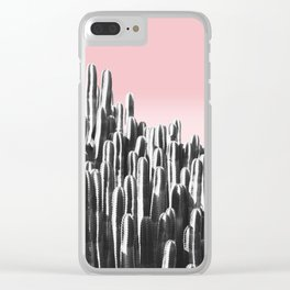 Cactus B&W & Sunset Clear iPhone Case