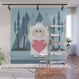 Little Yeti, Big Heart Wall Mural