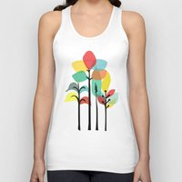 gray Tank Tops featuring Tropical Groove (gray) by Picomodi