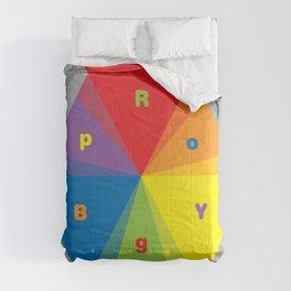 Color wheel by Dennis Weber / Shreddy Studio with special clock version Comforters