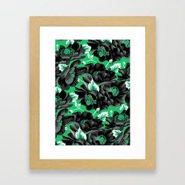 Mount Cook Lily - Green/Black Framed Art Print