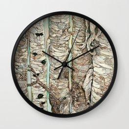 Birchen Forest Wall Clock
