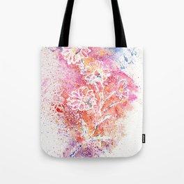 Flowers Illustration Art Tote Bag