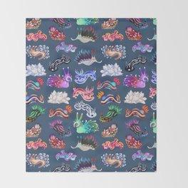 Nudibranch Throw Blanket